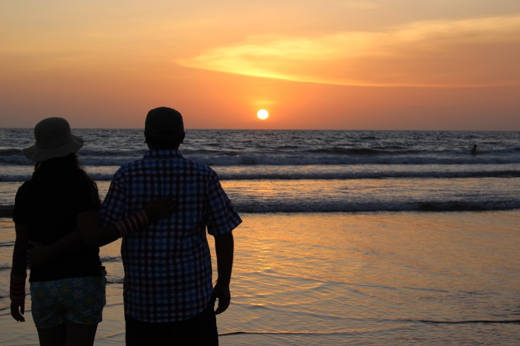 Couple enjoying sunset, couple goals, evening sunset, nature beauty, beautiful sunset